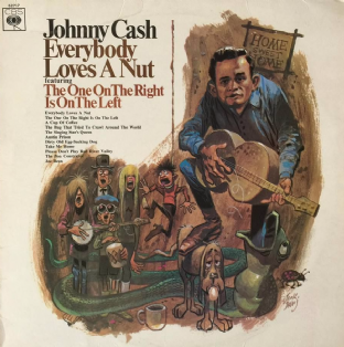 Johnny Cash ‎- Everybody Loves A Nut (LP) (G/VG-)